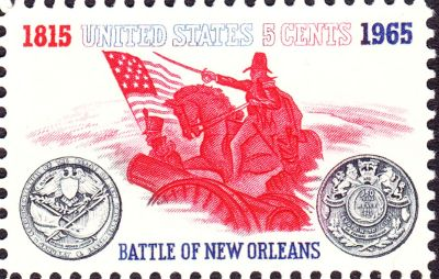 [Battle of New Orleans stamp]