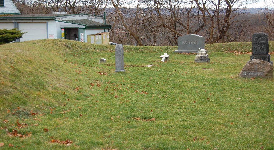 [Earthworks at Burlington Heights, Now in Hamilton Cemetery]