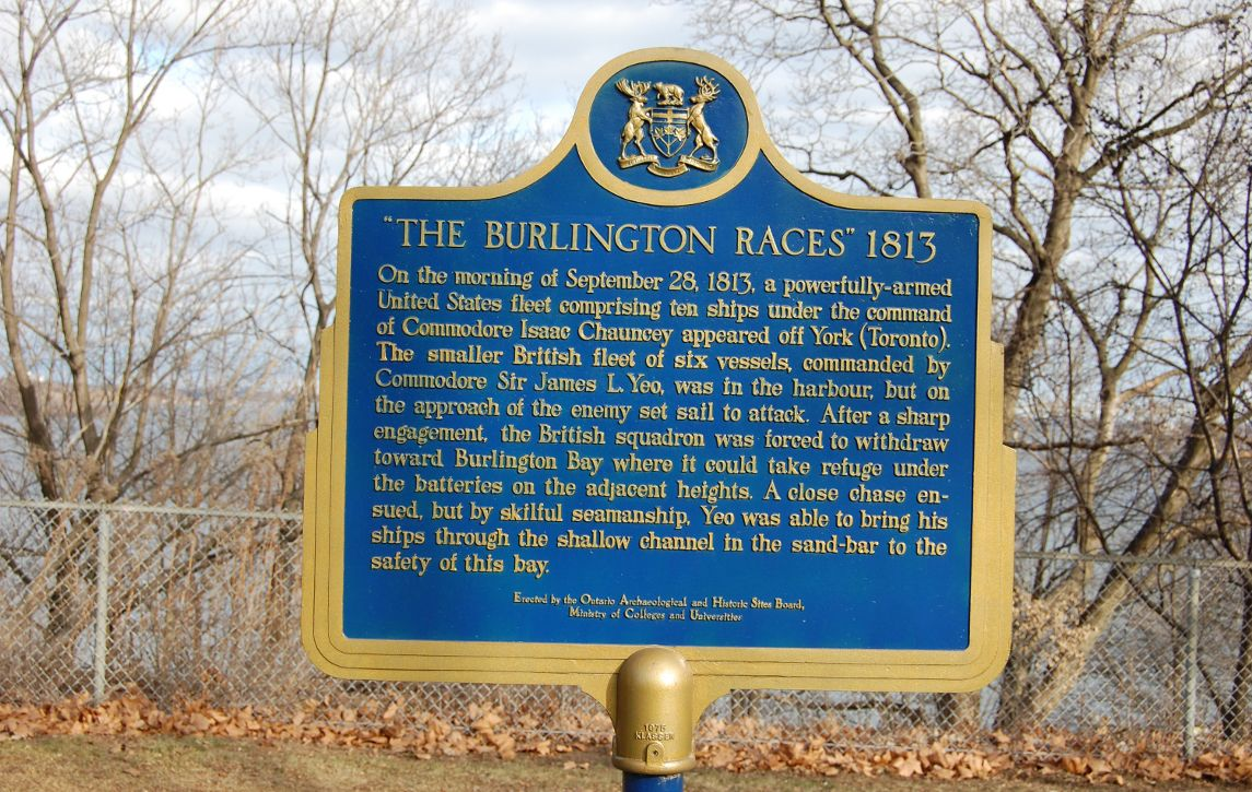 [Burlington Races Historic Plaque]