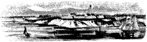 [Fort at Oswego in 1855]