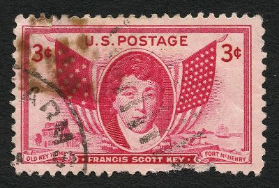 [Stamp featuring Francis Scott Key]