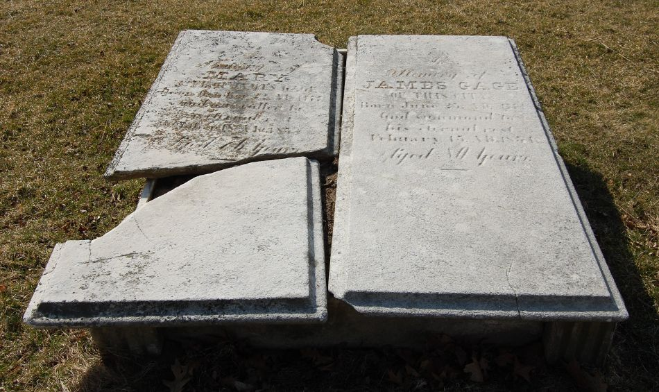 [Tombstones of James and Mary Gage]