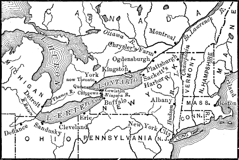 [Map of the Great Lakes and St. Lawrence regions]