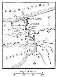 [Map of the Niagara Frontier during the War of 1812]