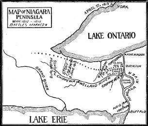 [Map of the Niagara Peninsula]