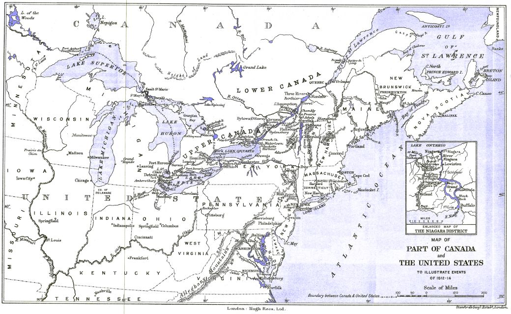 [Map of Part of Canada and the United States to illustrate events of 1812–14]