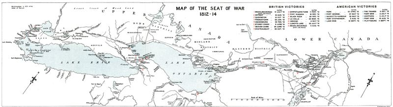 [Map of the Seat of War, 1812–1814]