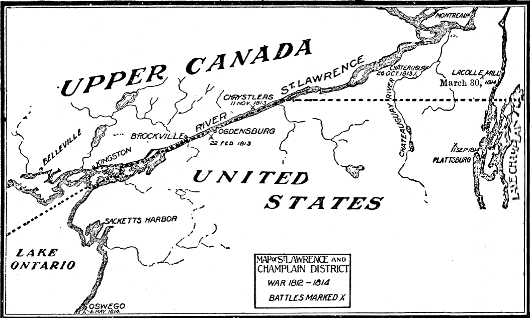 [Map of the St. Lawrence and Champlain Region]