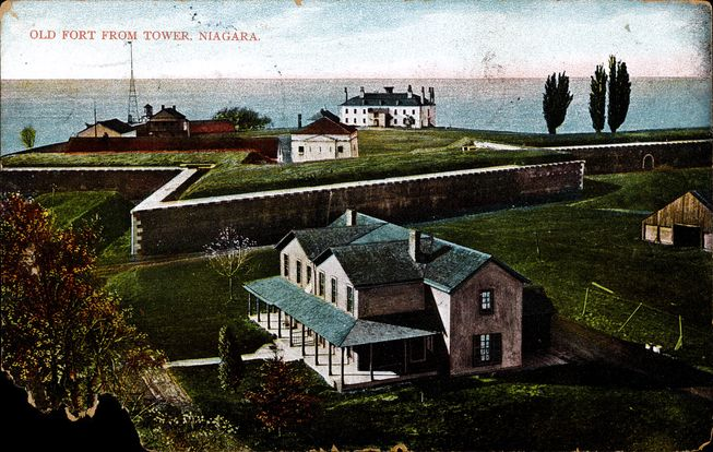 [Old Fort From Tower, Niagara postcard]