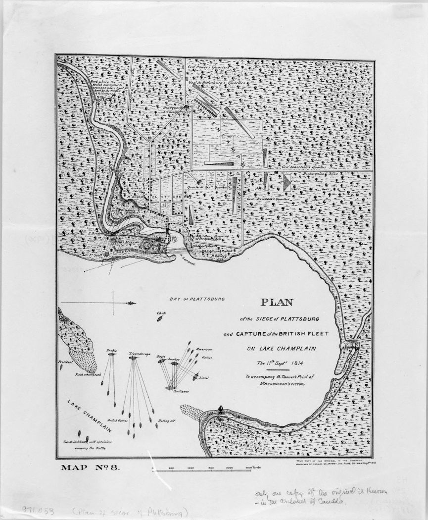 [Plan of the siege of Plattsburg and capture of the British fleet on Lake Champlain, the 11th September 1814.]