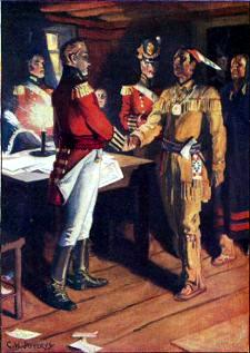 [Meeting of Brock and Tecumseh]