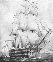 [Sir James Yeo's flagship, 1814]