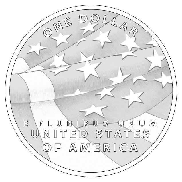 [Reverse of $1 Star-Spangled Banner Coin]