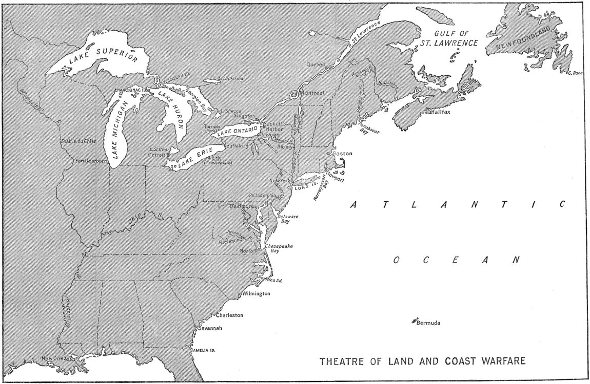 [Theatre of Land and Coast Warfare in the War of 1812]