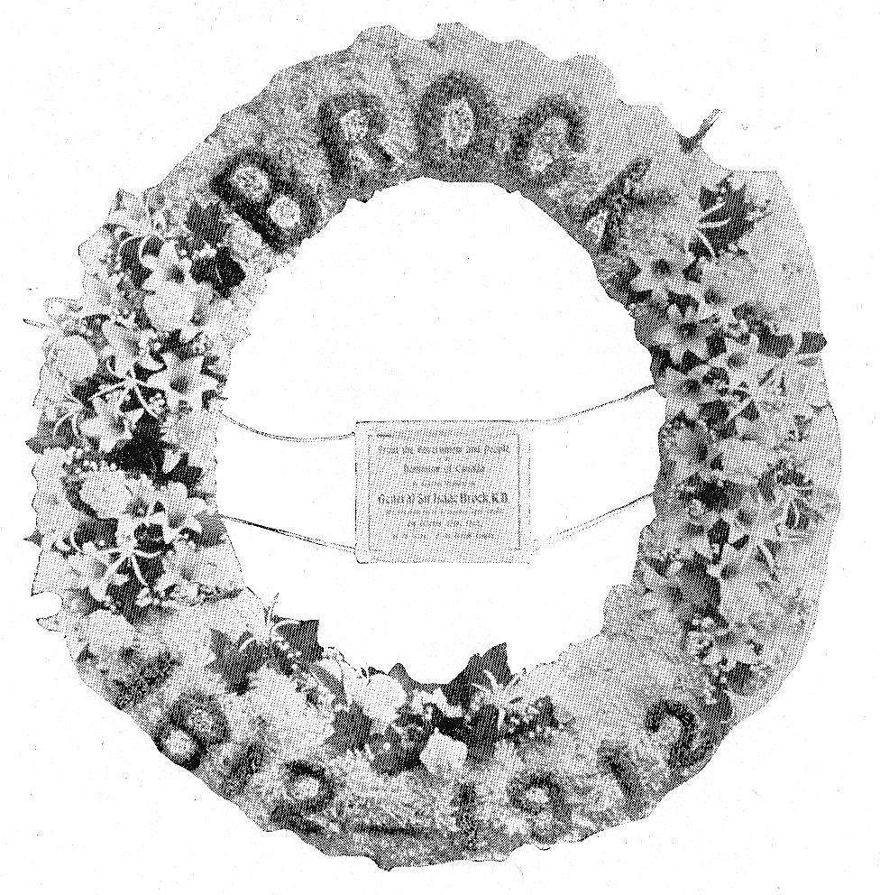 [Wreath placed on Brock's Monument in St. Paul's Cathedral, London, Eng. by the Government of Canada.]